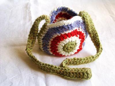Patrón bolso redondo de crochet