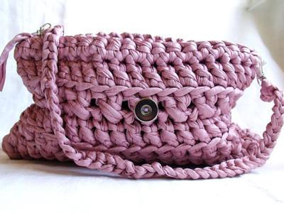 Patrón bolso rosa de crochet