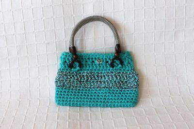 Patrón bolso turquesa de crochet