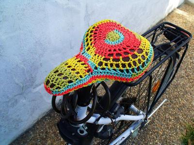 Patrón funda sillín de bicicleta