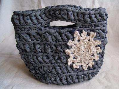 Patrón para cesta de crochet vaquera con mandala