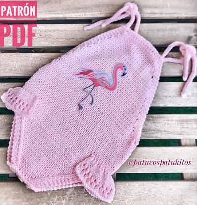 Patrón PDF body rosa niña