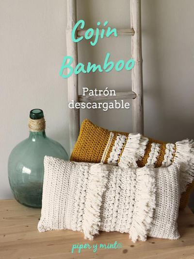 Patron PDF Crochet - Cojín Bamboo