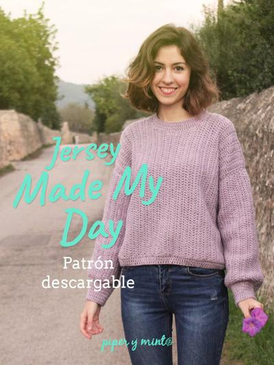 Patron PDF Crochet - Jersey Made My Day tallas S,M,L
