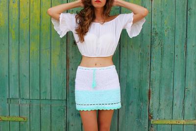 utorial falda a crochet – Modelo Nereida