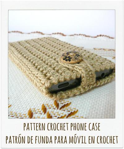 Patrón funda de móvil a crochet
