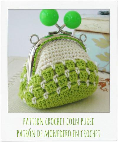 Patrón monedero bicolor a crochet