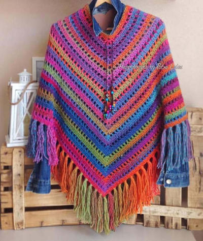 Patrón poncho crochet