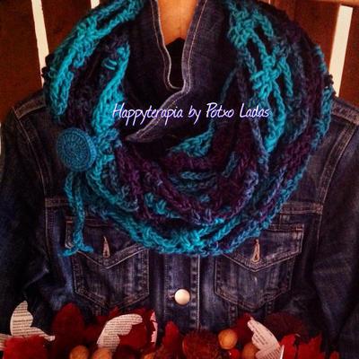 donpatron - Patrón/Tutorial Bufanda infinita crochet