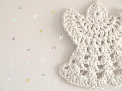 Patrón de Angel de Navidad de Ganchillo