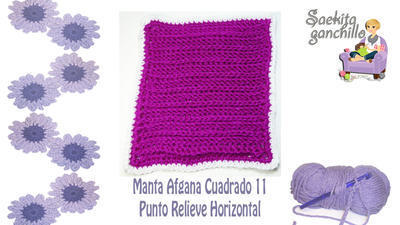 Videotutorial Manta Afgana Punto Relieve Horizontal