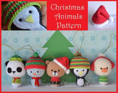 Patrón amigurumi animales navideños