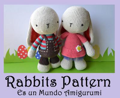 donpatron - Patrón Conejos Amigurumi