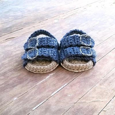 PATRON Sandalias de crochet estilo Birkenstock