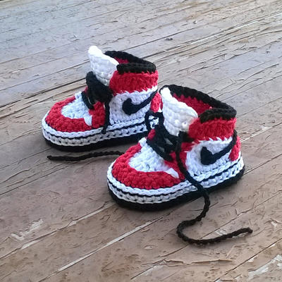 PATRON Zapatillas crochet estilo Air Jordans