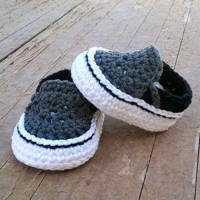 donpatron - PATRON Zapatillas crochet estilo Vans