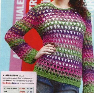 Jersey primaveral/veraniego a crochet