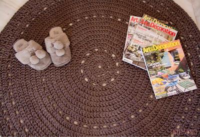 Patrón de alfombra a ganchillo XXL grande