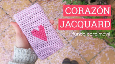 Corazón Jaquard Tapestry + Funda de móvil