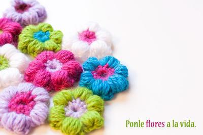 Flores Puff a Ganchillo