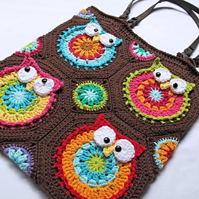 Owl Colorful Tote