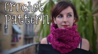 Cuello a Crochet / Punto Abanico Enrejado