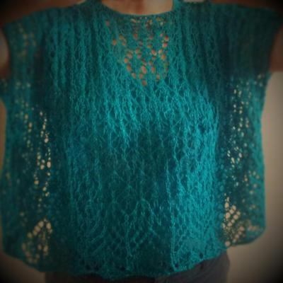 Patrón para tejer blusa calada