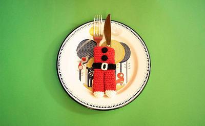 Kit de ganchillo - cubre cubiertos Noel