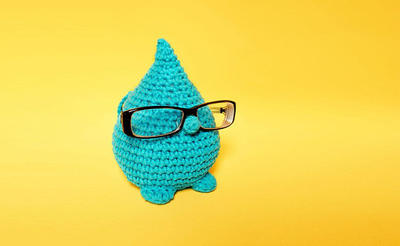 Kit ganchillo - gota intelectual - sujeta gafas - regalo ganchilloKit