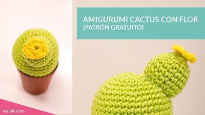 Patrón para hacer un cactus de amigurumi