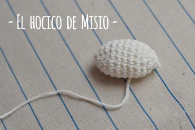 Misio (hocico) amigurumi