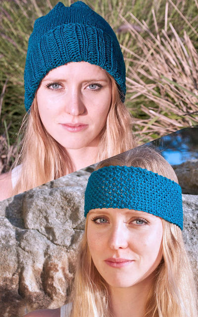 Bixby Hat and Headband Knitting Kit