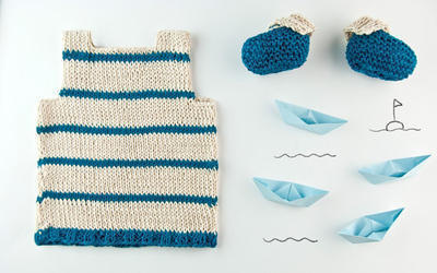Bluebeard two piece set knitting kit