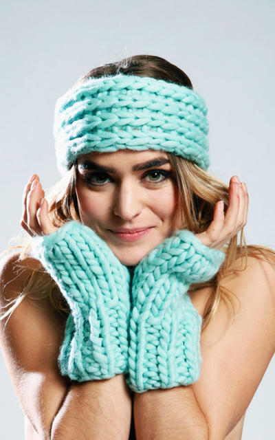 Hollyberry Warmers and Headband knitting kit