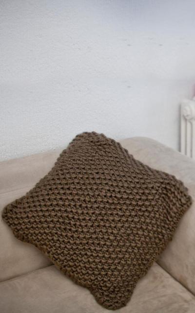 Wasabi Cushion Knitting kit