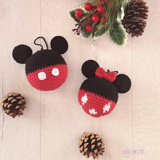Bolas Navidad de Mickey y Minnie
