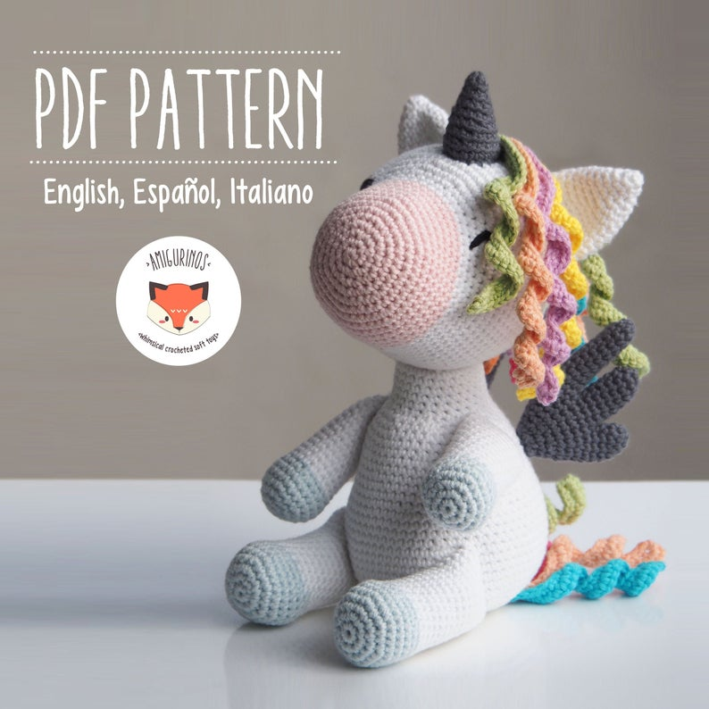 Amigurumi Crochet Unicorn Pattern - Peachy Rose the Unicorn ... | 794x794