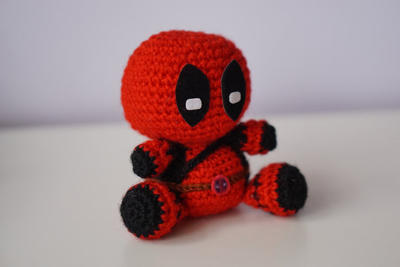 DIY PDF Patrón Amigurumi Sencillo Crochet Ganchillo DEADPOOL