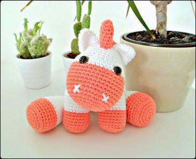 PATRONES GRATIS DE CROCHET: AMIGURUMI UNICORNIO a crochet ... | 324x400