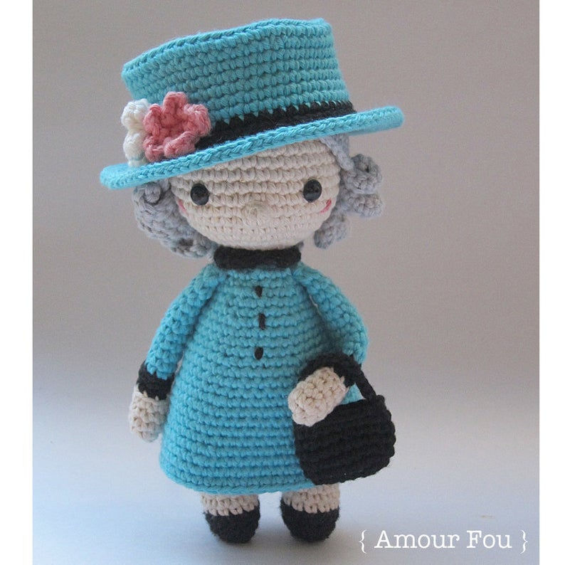 Patrón amigurumi The Queen Elizabeth