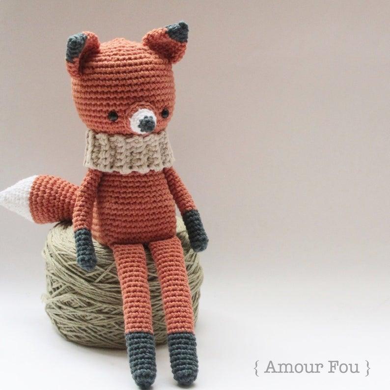 Pequeño zorro o lobo amigurumi crochet PDF patrón por FuglyCrochet ... | 794x794
