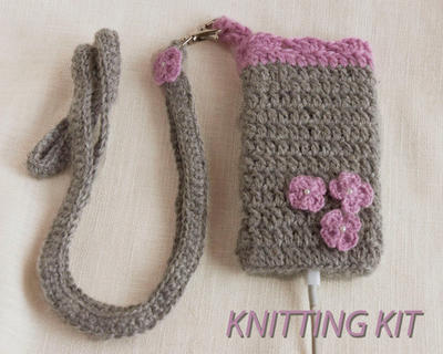 KIT de crochet para tejer una funda de celular iPhone5
