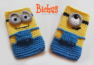 Minion : Funda para movil - Patron Amigurumi