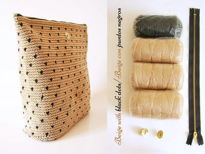 Kit de materiales para tejer cartera tapestry