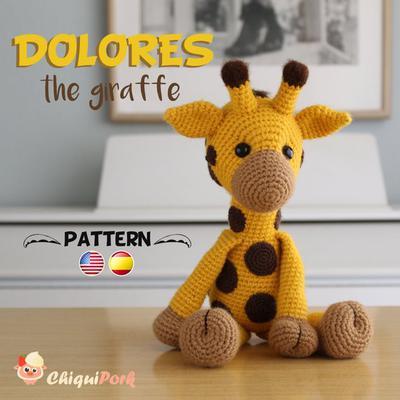Monty the Giraffe Crochet stuffie CUSTOM COLOR by LoveDincy ...   400x400