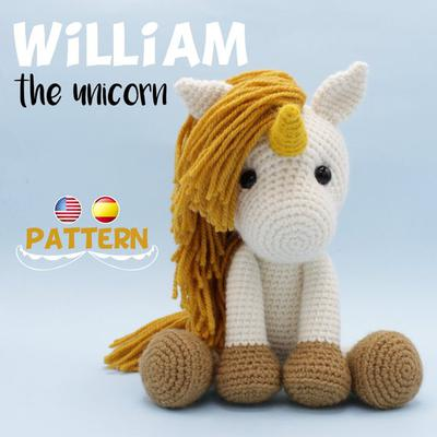 Patron Amigurumi William el Unicornio tutorial pdf