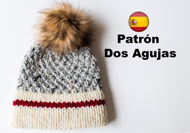 The Sock Monkey Alpes Beanie. Patrón PDF a dos agujas
