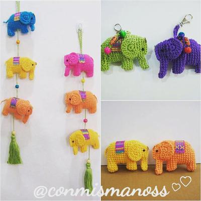 🐘 Patrón gratuito de Elefante amigurumi con adornos florales | 400x400