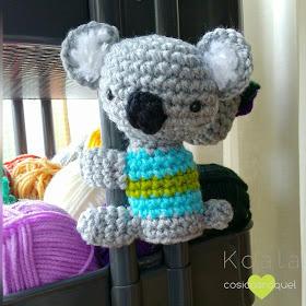 Llavero Koala Amigurumi Tejido A Crochet - $ 150.00 en Mercado Libre | 280x280