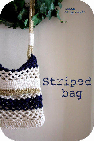 Tutorial Striped Bag (Parte 1: Base Rectangular)